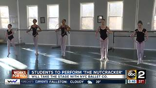 Students perform The Nutcracker with NYC Ballet Company - Video