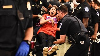 Chanting Healthcare Protesters Escorted From Senate Building - Video