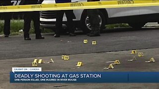 Deadly shooting outside River Rouge gas station is caught on video