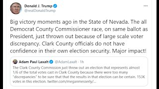 President Trump tweets about Clark County Commission election results