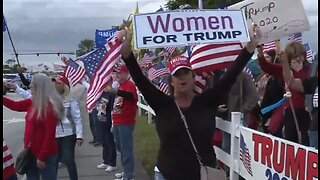 Crowd shows support for President Trump