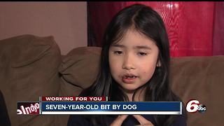 Indy 8-year-old describes being attacked by dog outside her home - Video