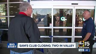 Sam's Club closures to affect Valley stores - Video