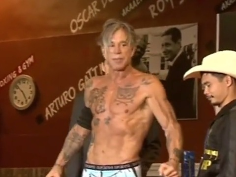 Actor Mickey Rourke Prepares For Boxing Match In Moscow