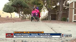 Special needs woman stuck on paratransit bus - Video