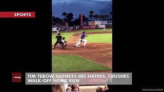 Tim Tebow Silences His Haters, Crushes Walk-Off Home Run - Video