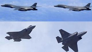 U.S. and South Korea military jets perform bombing runs - Video