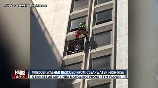 Window Washer rescued from Clearwater high-rise - Video