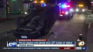 Driver leaves scene after crash in Ocean Beach