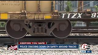 Increased number of death around railroad tracks spark police to act - Video