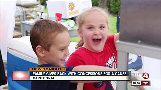 Family Gives back with concessions for a cause