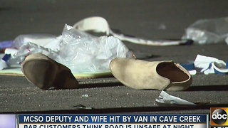 Deputy, wife hit in Cave Creek - Video