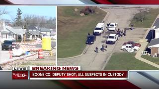Indiana State Police update on Boone County deputy who was shot while serving a warrant - Video
