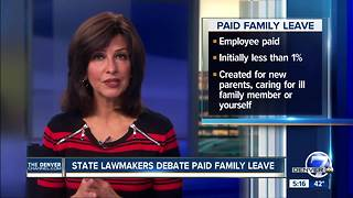 Colorado lawmakers debate paid family leave measure - Video