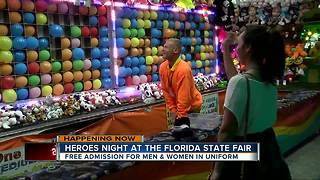 Heroes night at the Florida State Fair - Video
