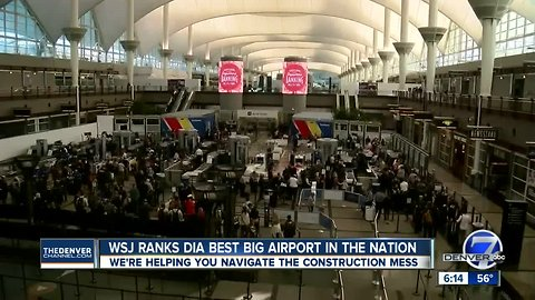 WSJ ranks Denver airport as the best of the U.S.'s biggest airports