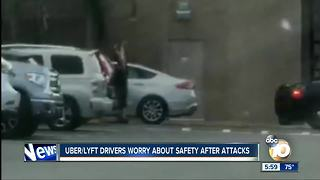Uber/ Lyft drivers worry about safety after attacks - Video