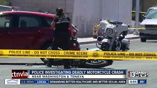 Motorcycle involved in fatal crash near Washington, Tenaya - Video