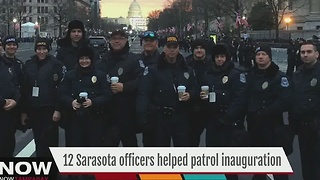Local law enforcement handpicked to witness history first hand at inauguration - Video