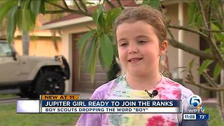 Jupiter girl to join Cub Scouts - Video