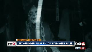 Sex offenders must follow Halloween rules - Video