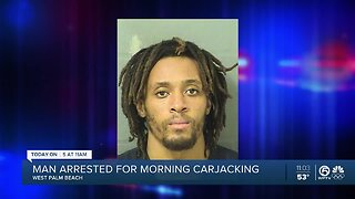 West Palm Beach carjacking suspect arrested