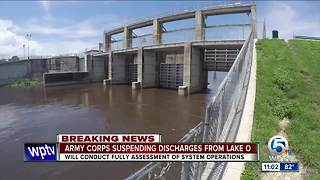 Army Corps suspends all discharges from Lake Okeechobee - Video
