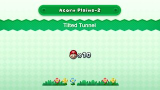 New Super Mario U Deluxe - Acorn Plains-2 Tilted Tunnel (All Star Coins)