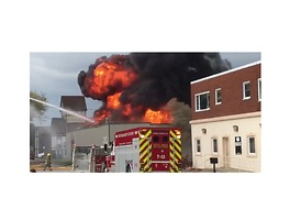 Military Surplus Store Catches Fire in Chatham-Kent, Ontario - Video