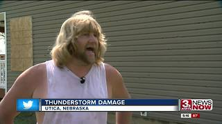 Ping pong ball sized hail found in Utica