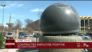 ORU contract employee tests positive