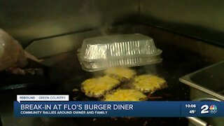 Community rallies around owner after break-in at Flo's Burger Diner