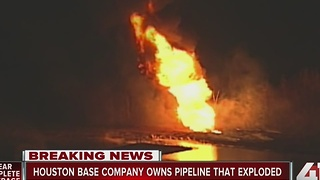 Crews fighting large pipeline explosion in KC - Video