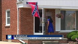 Metro Detroit man flying confederate flag says 'black people' aren't welcome - Video