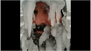 Notorious Surfer Grows Ice-Beard For Catching Waves At Frigid Temperatures - Video