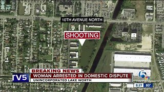 Woman arrested after shooting, stabbing near Lake Worth
