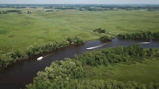Scenic view of the Wolf River in Wisconsin