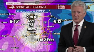 Major winter storm headed for Colorado, get prepared now for the weekend storm!