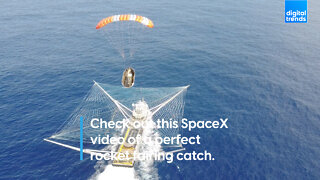 Check out this SpaceX video of a perfect rocket fairing catch.