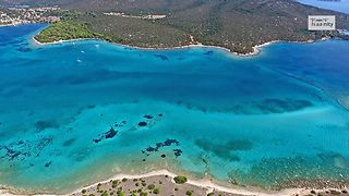 Drone captures tropical paradise of Petalioi, Greece