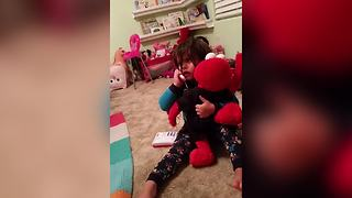 Hilarious Tot Girl Talks To Her Boyfriend On Toy Phone - Video