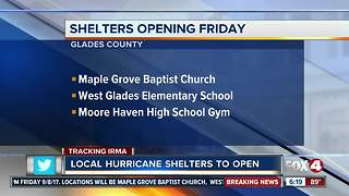 Local Hurricane Shelters to Open as Hurricane Irma Nears