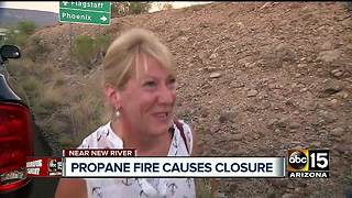 I-17 near Black Canyon City still closed after tanker fire - Video