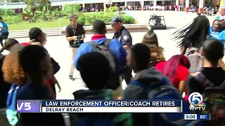 Special sendoff for retiring Palm Beach County School District police officer
