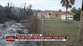 Collier Co. fire burns nearly 5,000 acres - Video