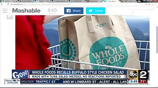 Whole Foods chicken salad made with tuna instead - Video