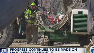 Progress continues to be made on Fraser sinkhole - Video
