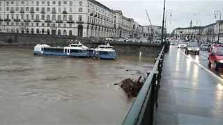 Iconic Tourist Boats Crash Into Turin Bridge Amid North Italy Flooding - Video