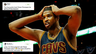 Cavs Fans PISSED at Tristan Thompson for Getting Khloe Kardashian Pregnant - Video