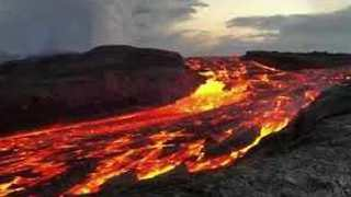 Glowing River of Lava Flows From Fissure 8 in Hawaii - Video